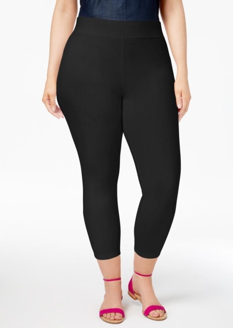 59290df2e7210 Hue Hue Women s Plus Size Temperature Control Capri Leggings