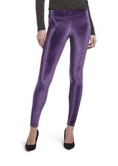 HUE Women's Plus Size Velvet Leggings Assorted