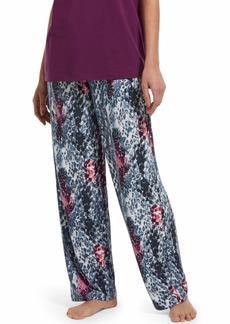 HUE Women's Printed Knit Long Pajama Sleep Pant Off White-Sassy Skin Extra Large
