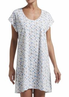 HUE Women's Short Sleeve Sleepshirt Nightgown White - ICY Margarita