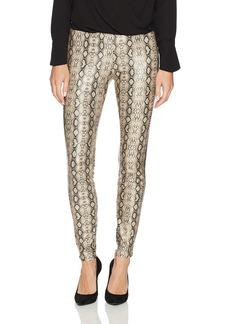 HUE Women's Python Leatherette Leggings