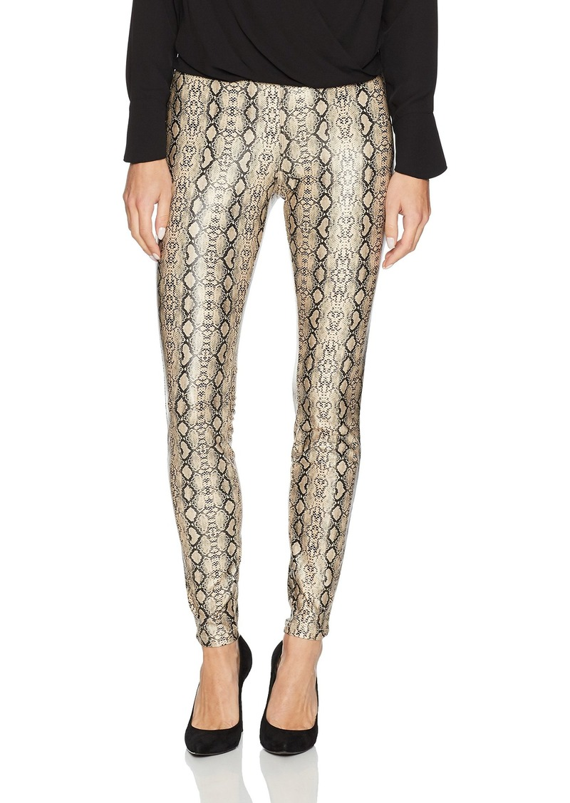HUE Women's Python Leatherette Leggings
