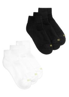 Hue Women's Quarter Top 6 Pack Socks