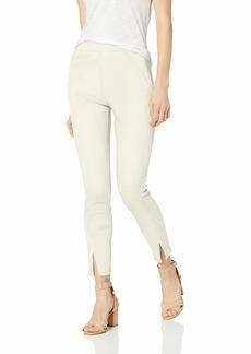 HUE Women's Sateen High Waist Skimmer Leggings white satin XL