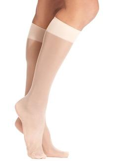 Hue Women's Sheer Knee High Trouser 2 Pack Socks