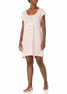 HUE Women's Short Sleeve Sleepshirt Nightgown