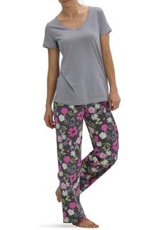 Hue Women's Short Sleeve V-Neck Pajama Top