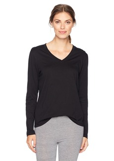 HUE Women's Long Sleeve V-Neck Sleep Tee
