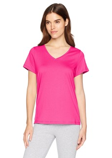 HUE Women's Short Sleeve V-Neck Sleep Tee