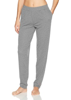 HUE Women's Solid French Terry Cuffed Long Lounge Pant with Pockets  Extra Large