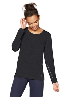 HUE Women's Solid French Terry Long Sleeve Lounge Tee