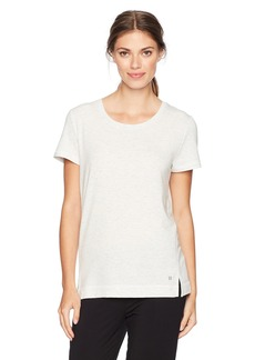 HUE Women's Solid French Terry Short Sleeve Lounge Tee  Extra Large