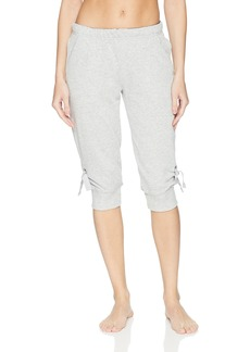 HUE Women's Solid Knit Clam Digger Lounge Sleep Pants