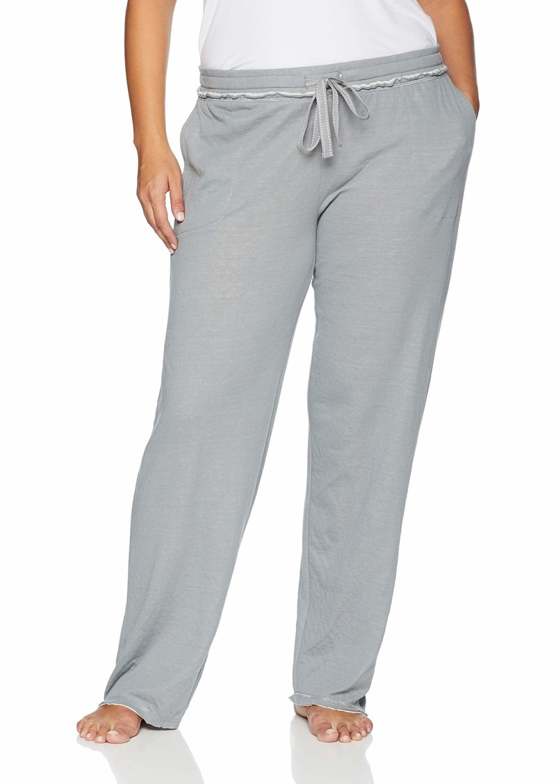 HUE Women's Solid Knit Long Pajama Sleep Pant  Extra Large