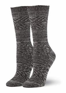 HUE Women's Supersoft Casual Boot Sock black MULTI - Diamond