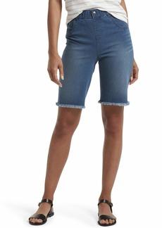 HUE Women's Ultra Soft Denim High Waist Bermuda Shorts  Extra Large