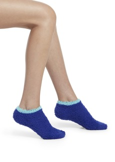 HUE Women's Ultra Soft Furry No Show Slipper Sock with Grippers