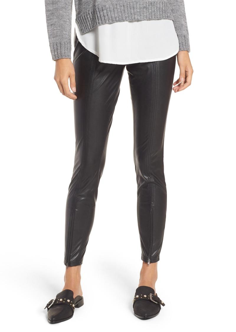 3c7a4c5514668 Hue Hue Zip Hem Faux Leather Leggings Now $31.20