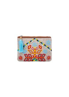 HueBreeze Leather Mirrored Large Clutch