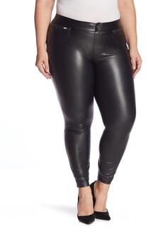 Hue Leatherette Faux Leather Leggings (Plus Size)