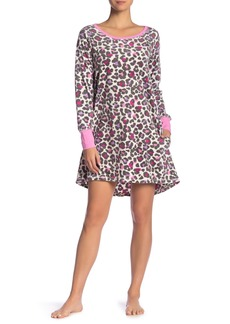 Hue Leopard Fleece Sleep Shirt