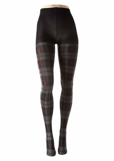 Hue Plaid Tights with Control Top