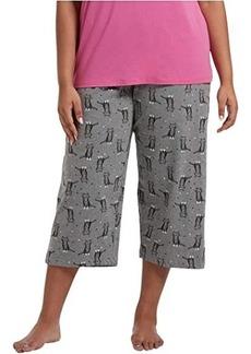 Hue Plus Size Sweet Kitty Capris PJ Pants