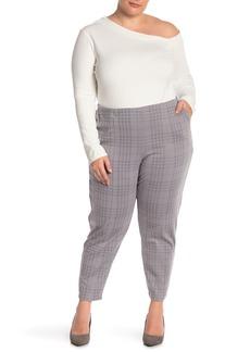 Hue Seamed Printed Ponte Pants (Plus Size)
