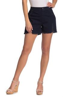 Hue Shredded High Waist Frayed Shorts