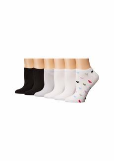 Hue Supersoft No Show Liner Socks 6-Pair Pack
