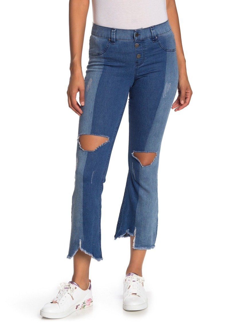 Hue Ultra Soft Denim Cropped Jeans