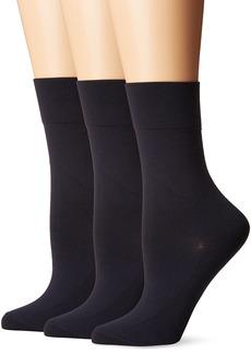 Hue Ultrasmooth Crew Socks (Pack of 3)  (4-10)