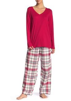 Hue Unforgettable Plaid 2-Piece Pajama Set