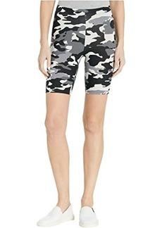 Hue Wavy Camo Cotton High-Waist Bike Shorts