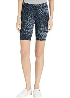 Hue Wavy Leopard Cotton High-Waist Bike Shorts