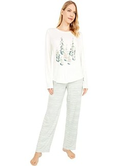 Hue Winterland Stripe Cozy Knit PJ Set
