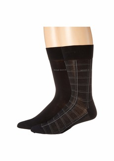 Hugo Boss 2-Pack Check Mercerized Cotton Socks