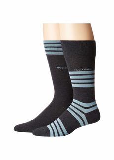 Hugo Boss 2-Pack Combed Cotton Stripe Socks