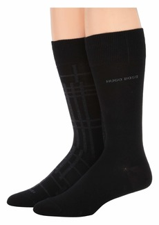 Hugo Boss 2-Pack Regular Sock Maxi Check Combed Cotton Socks