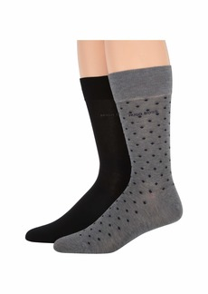 Hugo Boss 2-Pack Regular Sock Minipattern Mercerized Cotton Socks