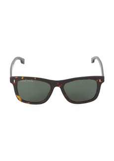 Hugo Boss 52MM Tortoise Square Sunglasses