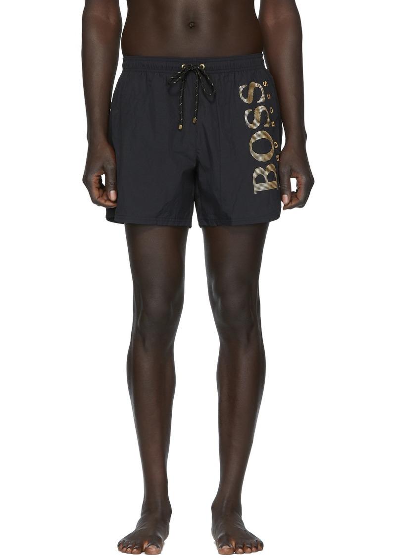 Hugo Boss Black & Gold Icefish Swim Shorts