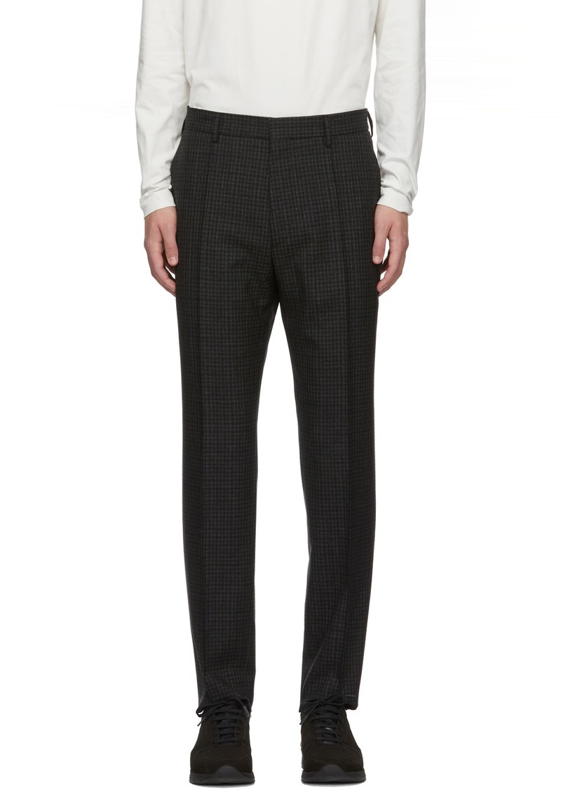 Hugo Boss Black & Grey Check Paco Trousers