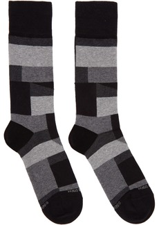 Hugo Boss Black RS Block Pattern Socks