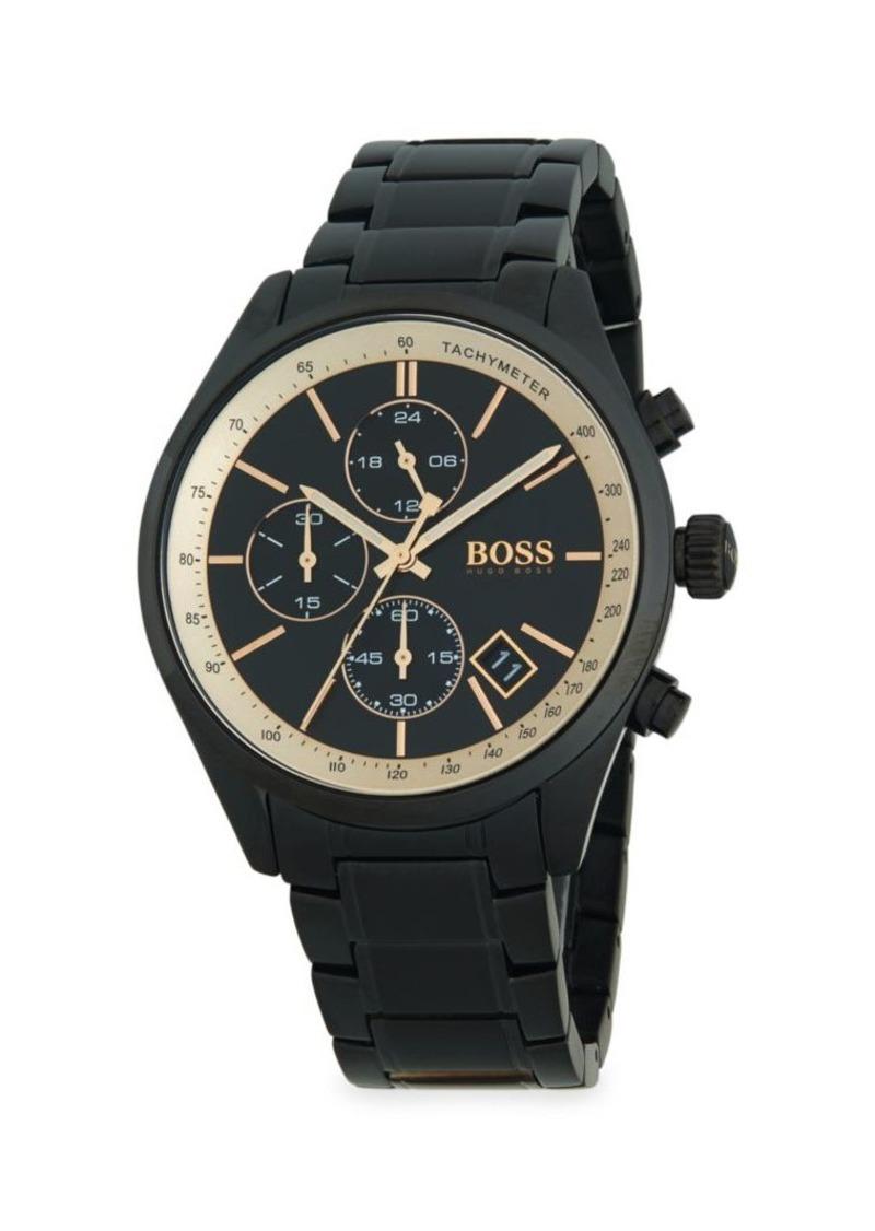 Hugo Boss Black-Tone Stainless Steel Bracelet Chronograph Watch