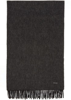 Hugo Boss Black Wool Heroso Scarf