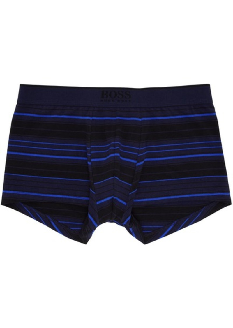 Hugo Boss Blue & Black Stripe Boxer Briefs