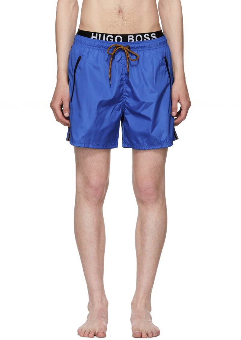b16c69a6e5 Hugo Boss Blue & Orange Thornfish Swim Shorts | Swimwear
