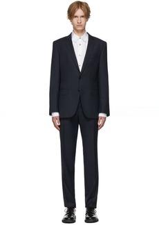 Hugo Boss Blue Micro Check Wool Huge 6/Genius 5 Suit