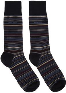 Hugo Boss Blue Multi Stripe Socks